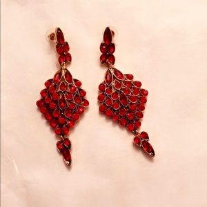 Peacock red Earrings